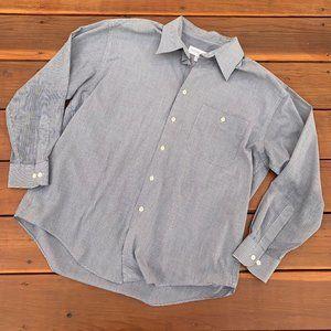 Yves Saint Laurent Blue Checkered Button Up Shirt